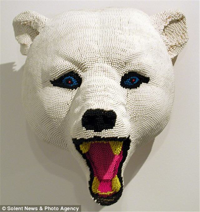 성냥개비로 만든 북극곰