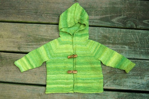 Handspun baby cardigan - Daydreams of Spring