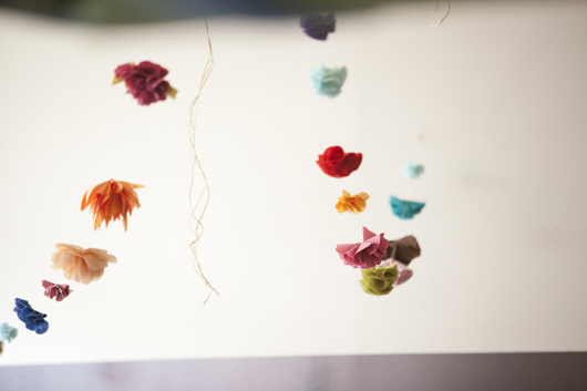 Our fabric flower garland from the Free Wedding was featured