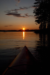 Adirondack Sunset from a Kayak (pa_cosgrove) Tags: sunset sky sun reflection nature water skyline clouds reflections golden kayak adirondacks saranaclake uppersaranaclake canonef24105mmf4lisusm canoneos5dmarkii