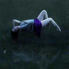 sleeper (brookeshaden) Tags: reflection water creek pose woods levitation steph sleeper balthus missaniela notaselfie brookeshaden easiertoviewonblack