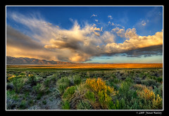 Evening at the Alkaline Ponds (James Neeley) Tags: california sunset landscape mammothlakes hdr 5xp jamesneeley mountainhighworkshops alkalineponds
