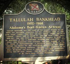 Tallulah Bankhead historical marker