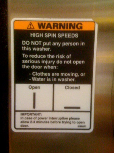 DO NOT put any person in this washer