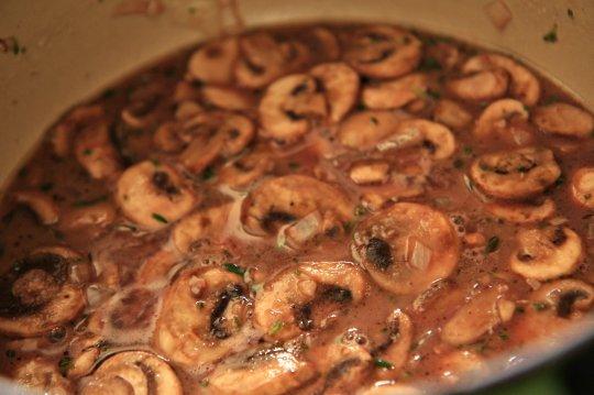 Red Wine Mushroom Sauce