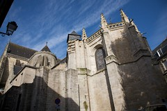 Vannes Cathedral (Rear View) (Mark-Crossfield) Tags: pictures city france stpeters church wall town photo brittany catholic cathedral image photos picture scene images scenes vannes walled basillica walledtown stpeterscathedral photosof picturesof imagesof markcrossfield rainfordphotographer markcrossfieldrainfordphotographer snapsof picciesof