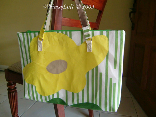 Flower Green Tote 3
