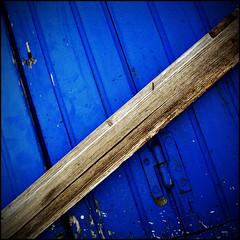 (Katerina.) Tags: blue lines urbandecay vivid minimal diagonal 500x500 doordetail linescurves haphazart haphazartblue bestminimalshot ministract haphazartdiagonal