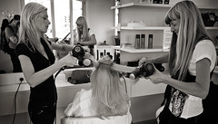 Hairdressers (paul indigo) Tags: beauty fashion hair style dry blow blond hairdresser curl treatment