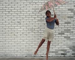(worth the wait.) Tags: sarah umbrella fun jumping dumbface