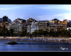 Benidorm playa_HDR (astur56) Tags: sunset sea costa sun beach atardecer coast mar mediterraneo playa verano ocaso poniente benidorm astur56