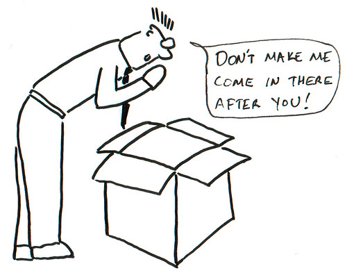 366 Cartoons - 234 - A Box and a Man