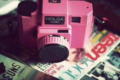 (S) Tags: camera pink magazine book dvd holga pretty random teen vogue anatomy thousand suns splendid greys