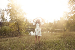 (yyellowbird) Tags: sun selfportrait girl field cari