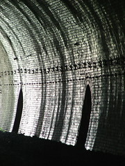Rusher Cutting Tunnel (Chris Petty) Tags: uk light england derbyshire bricks tunnel cutting 2009 rusher recesses