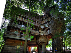 The Minister's Tree House, Crossville, TN (Chuck Sutherland) Tags: county wood house tree church wooden interestingness tn tennessee structure swing treehouse explore cumberland minister ministers crossville