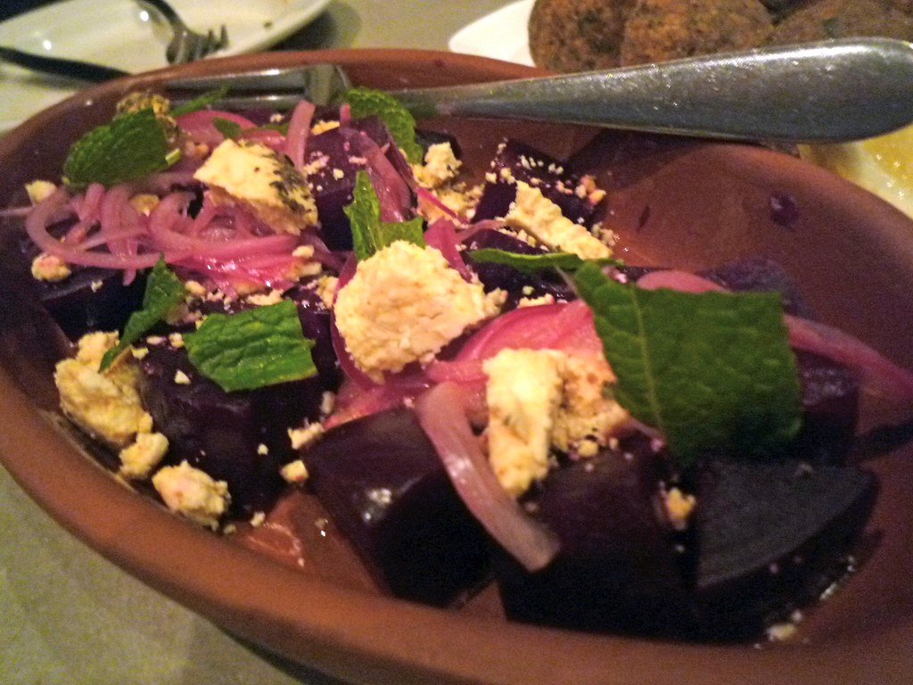 Beetroot and shankleesh
