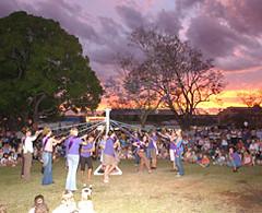 Maypole dancing Market Square (Butterflyon33) Tags: festival jacaranda grafton