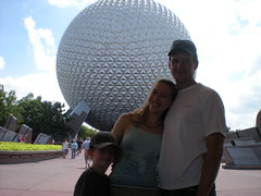 Andrew, Clare, and Dennis at Epcot