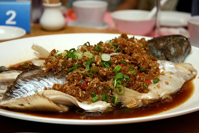 Steamed Live Patin Fish