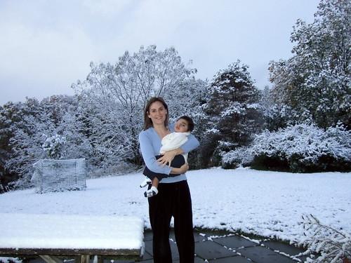 Oliver, Meghan, snow!