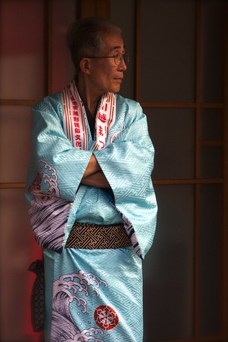 A Japanese Man In A Beautiful Yukata