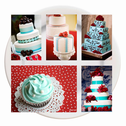 I do it yourself eye catching cakes cake credits plum prefect via project wedding pretty as a picture via jonathan canlas photography aqua cake with red rose decoration credit unknown solutioingenieria Image collections