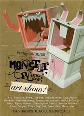 kitty & congo attack the monster box show! (psychosurplus) Tags: show chicago art kesh monsterbox squirrelygee erinrembert kittycongo