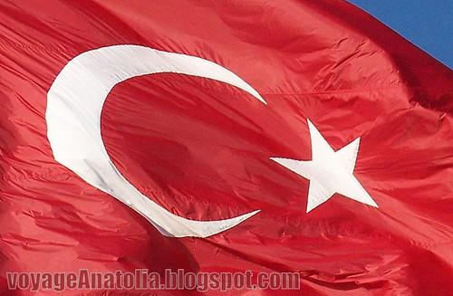Turkish Flag by voyageAnatolia.blogspot.com