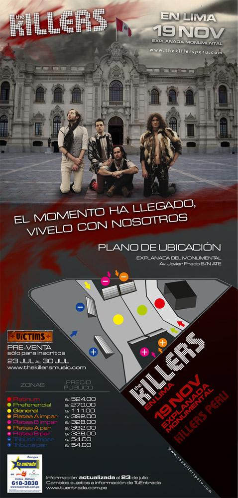 The Killers en Lima