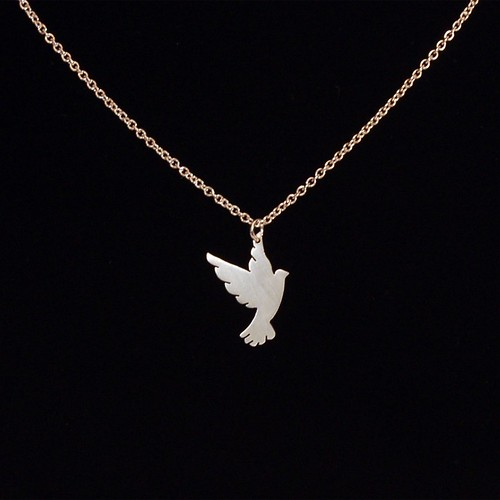steff silver product necklace diamond turtle jewellery dove bloomsbury pendant