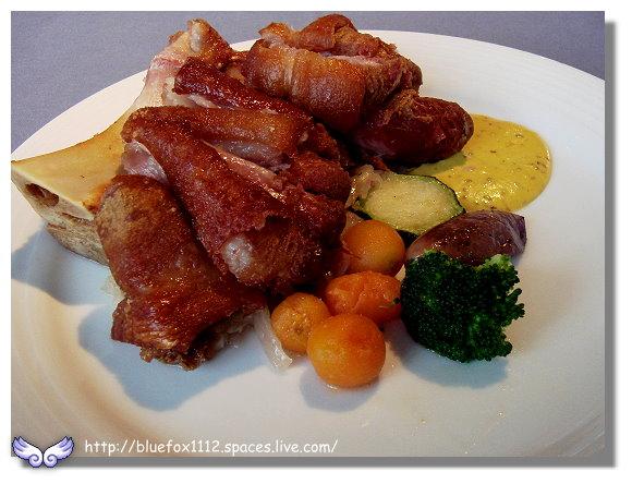 091112綠風莊園餐廳10_香烤脆皮德國豬腳佐蜂蜜芥末醬