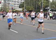 IMG_6964 (kjdrill) Tags: california usa beach race la pier losangeles santamonica marathon running racing line finish runners 2010 oceanavenue 6964 26milemarker newracecourse