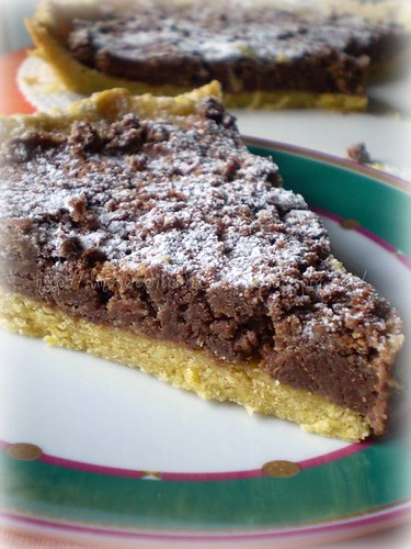 Crostata pandoro e gianduia