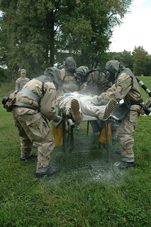 Chemical unit holds wartime decontamination exercise