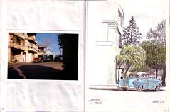 028-029 (Vincent Desplanche) Tags: urban sketch havana cuba sketchbook habana croquis carnetdevoyage colouredpencils cuadernosdeviaje