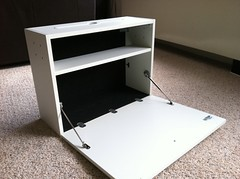 Modified IKEA Ludvig laptop cabinet - Interior.