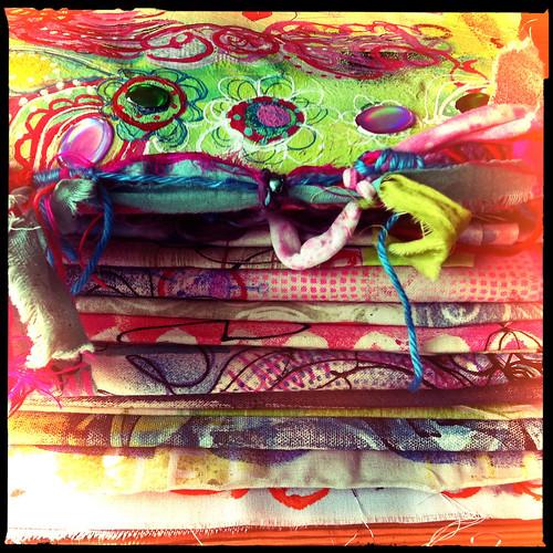 handpaintied fabric