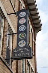 masonic reading room sign
