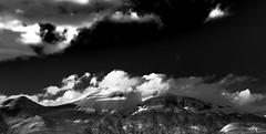 Mt. Asama - Nagano Side (Greg Tokyo) Tags: 2017 6d bw black white clouds japan nagano asama snow volcano