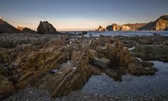 Gueirúa. (Amparo Hervella) Tags: mar agua playadelagueirúa asturias españa spain playa roca reflejo largaexposición d7000 nikon nikond7000 comunidadespañola