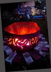 P1110654 (150hp) Tags: amanda dan plasma cutting hands art studio fish creek fuel oil tank upcycling fire pit ring handmade goldfish panasonic lx3