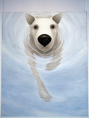 Takanobu Kobayashi - Dog 1998 (de_buurman) Tags: art netherlands painting japanese kunst schilderij exhibit exhibition panasonic tentoonstelling japans sieboldhuis allrightsreserved takanobukobayashi lumixdmcfz50 debuurman edjansen hollandmania