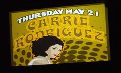 Carrie Rodriguez sign (Michael Bialas) Tags: denver liveconcert romantica carrierodriguez