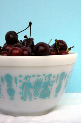 Vintage Bowl with Cherries