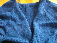 Blue Top Down Cardigan