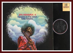 "Jimi Hendrix / 4  ""Hendrix In The West"" and ""War Heroes"" Barclay Records French Import Vinyl Record"