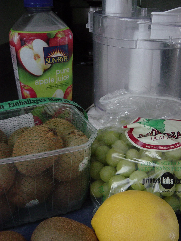 Green Grape and Kiwi Granita