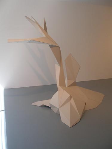 Ivan Twohig: from it goes on, 2009, cardboard; image held here