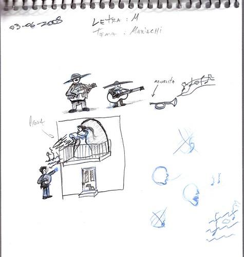 Mi memoria en dibujos 20 (M, Mariachi, Manuelita)